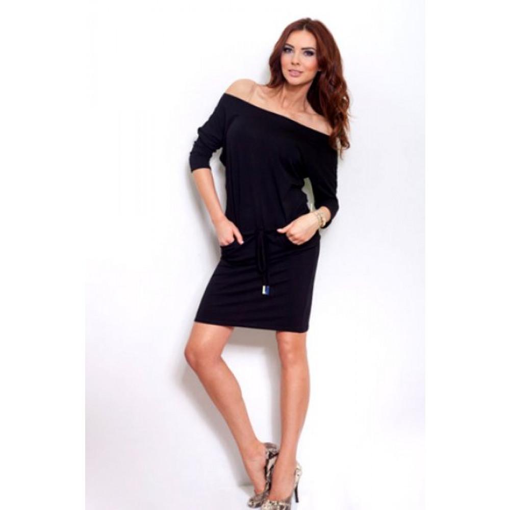 7767e3efa2c Σπορ φόρεμα με μανίκια 3/4 Numoco - Μάυρο ενα υπέροχο εξαιρετικής ...